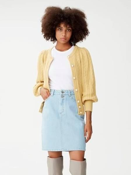 Bilde av Gestuz Dacy HW Skirt Light