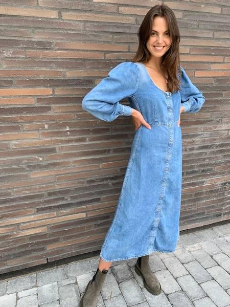 Bilde av Ganni F6106 Denim dress