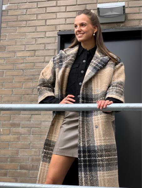 Bilde av 2ND Pecan Coat Check Wool